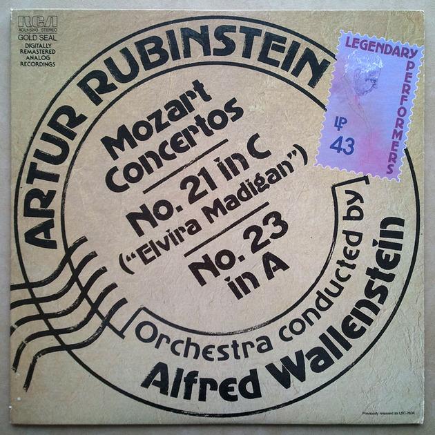 RCA   RUBINSTEIN/MOZART - Piano Concertos Nos. 21 & 23 / NM