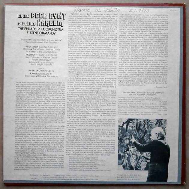 RCA | ORMANDY/GRIEG - Peer Gynt, Sibelius Karelia / NM