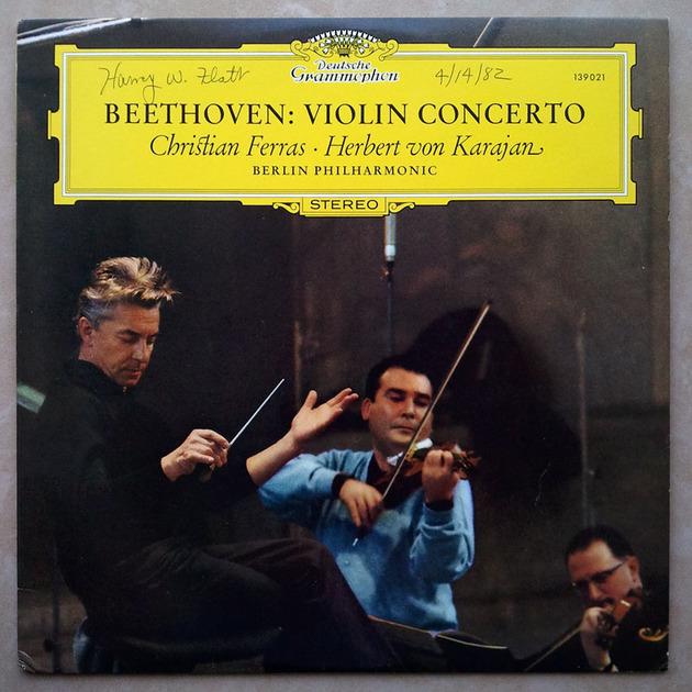 DG   FERRAS/KARAJAN/BEETHOVEN - Violin Concerto / EX