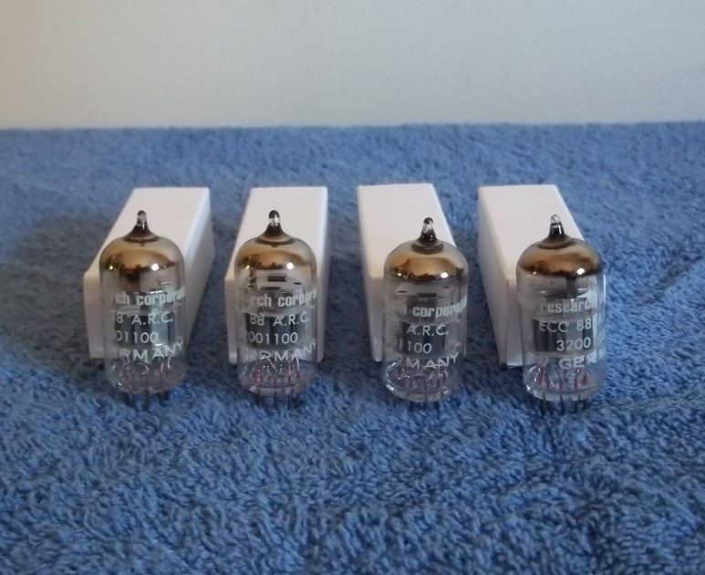 Audio Research 6DJ8 ECC-88 6922 W German NOS 4 matched tubes same date codes
