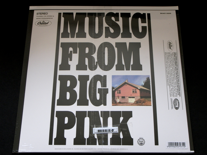 The Band - Music From Big Pink   Capitol/EMI 180g audiophile reissue [Sealed]