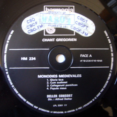 ★Audiophile★ Harmonia Mundi / DELLER CONSORT, - Chant Gregorien, NM!