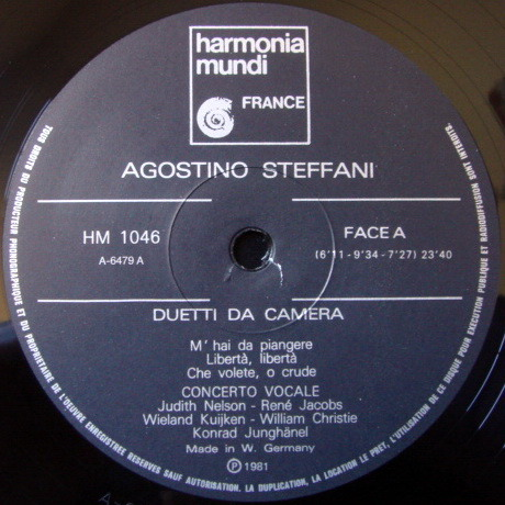 ★Audiophile★ Harmonia Mundi / KUIJKEN-CHRISTIE, - Steffani Duetti da Camera, NM!