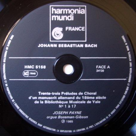 ★Audiophile★ Harmonia Mundi / PAYNE, - Bach Chorale Preludes, NM!