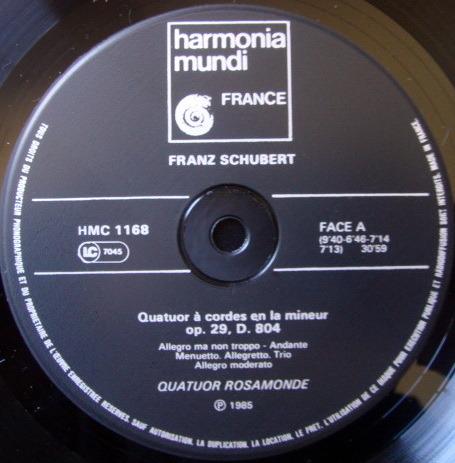 ★Audiophile★ Harmonia Mundi / QUATUOR ROSAMONDE, - Schubert String Quartets, NM!
