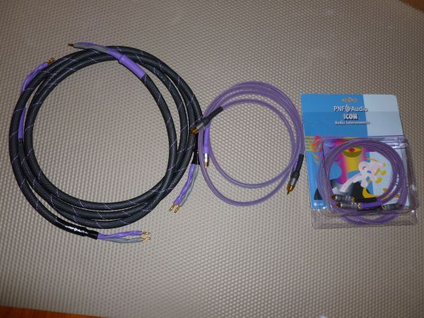 PNF Audio Set - 2 Pairs of Interconnect Cables and 1 Pair of Speaker Cable  in Great Condition