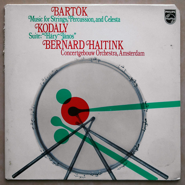 PHILIPS | HAITINK/BARTOK - Music for Strings, Percussion, and Celesta/KODALY Hary Janos Suite / NM