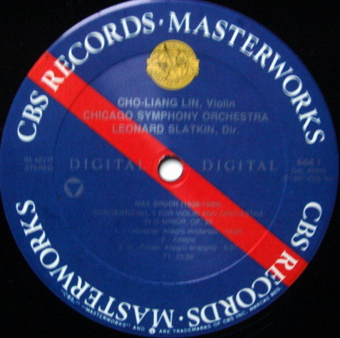 CBS Digital / CHO-LIANG LIN-SLATKIN, - Bruch Violin concerto, MINT, Promo Copy!