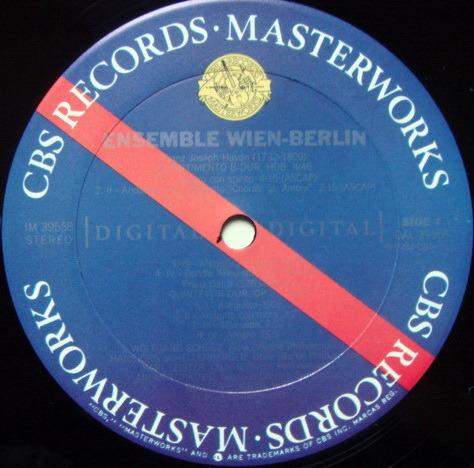 CBS Digital / ENSEMBLE WIEN-BERLIN, - Haydn Divertimento, MINT, Promo Copy!