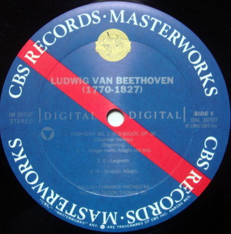 CBS Digital / TILSON THOMAS, - Beethoven Symphonies No.1 & 2, NM, Promo Copy!