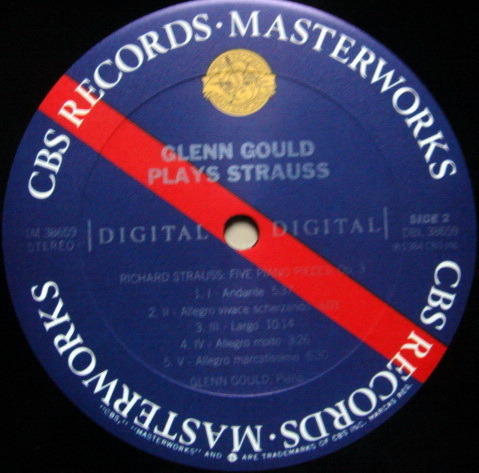 CBS Digital / GLENN GOULD, - R. Strauss Piano Sonata, MINT!