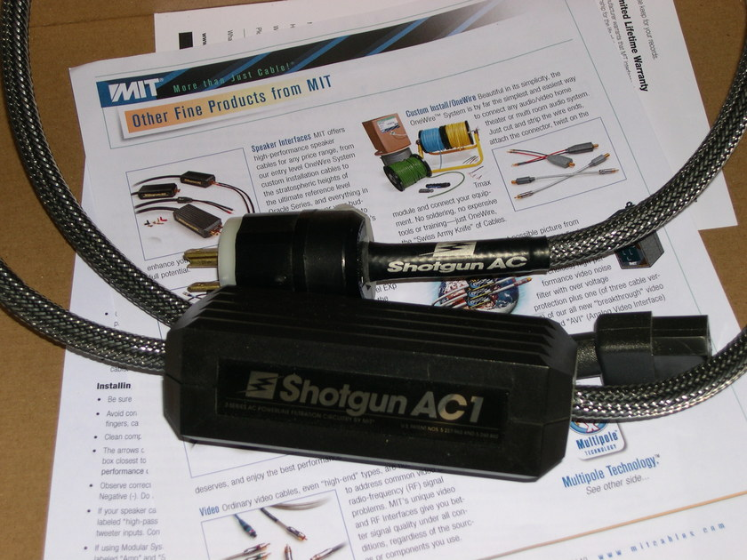MIT Shotgun AC-1 AC cable Studio trade-in. 2 available XLNT condtion, Wrnty