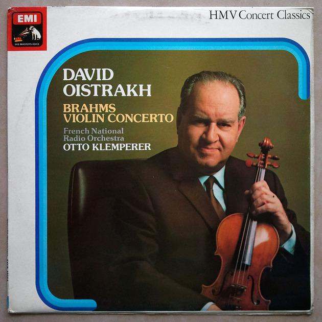 EMI HMV | OISTRAKH/KLEMPERER/BRAHMS - Violin Concerto / EX