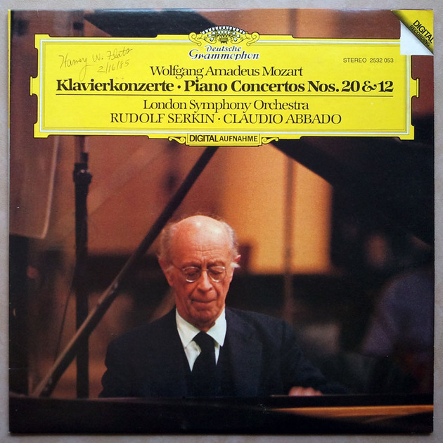 DG Digital | SERKIN/ABBADO/MOZART - Piano Concertos Nos. 20 & 12 / NM