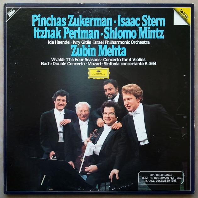 DG Digital | ZUKERMAN/STERN/PERLMAN/VIVALDI - Four Seasons, Concerto for 4 Violins/BACH Double Concerto/ MOZART Sinfonia Concertante / 2-LP / NM