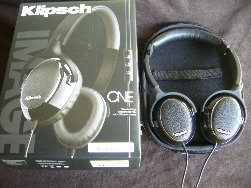 Klipsch  One Headphones  mic+3-button remote, Free shipping
