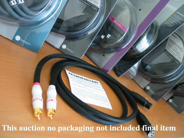 female XLR / RCA Monster Cable M Series M1000i  interconnect cable 1m