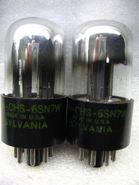 SYLVANIA 6SN7W  6SN7 W PLATINUM MATCHEDPAIR NOS, with test data