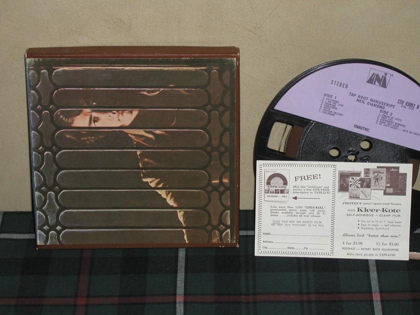 Neil Diamond - Tap Root Manuscript  UNI/MAGTEC open reel Tape.