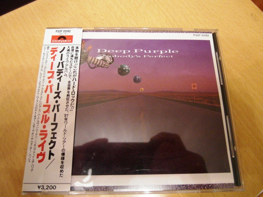 Deep Purple -  - Nobody Perfect (Japan 1st edition, promo sample) New
