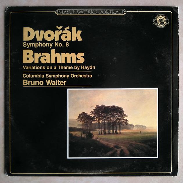 CBS | BRUNO WALTER/DVORAK - Symphony No. 8/BRAHMS Variations on a Theme by Haydn / Promo copy / NM