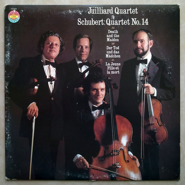 CBS | JUILLIARD QUARTET/SCHUBERT - Death and the Maiden (String Quartet No. 14) / NM
