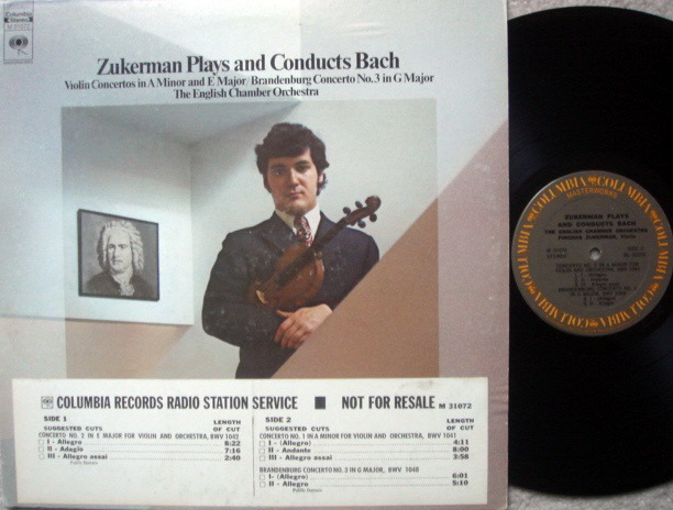 Columbia / ZUKERMAN, - Bach Violin Concertos, NM, Promo Copy!