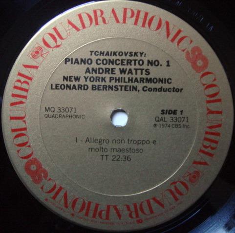 Columbia / ANDRE WATTS-BERNSTEIN, - Tchaikovsky Piano Concerto No.1, NM-, Promo Copy!