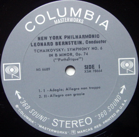 Columbia 2-EYE /, LEONARD BERNSTEIN, - Tchaikovsky Symphony No.6 Pathetique, MINT!