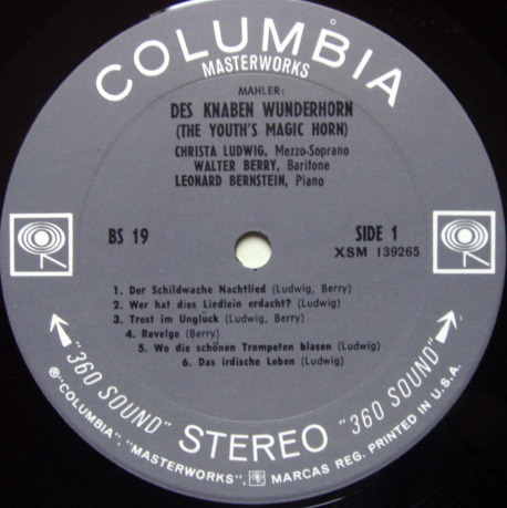 Columbia 2-EYE /, LEONARD BERNSTEIN, - Mahler Des Knaben Wunferhorn, MINT, 2LP Set!