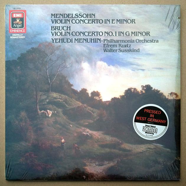Sealed EMI Digital | MENUHIN/MENDELSSOHN - & BRUCH Violin Concertos / German Pressings