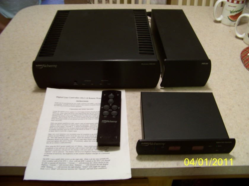 Audio Alchemy complete setup OM-150 power amp w/power supply & DLC Preamp reduced for quick sale