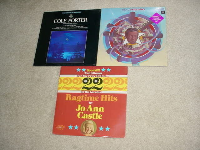 cole porter peter nero  jo ann castle - 3 sealed lp records