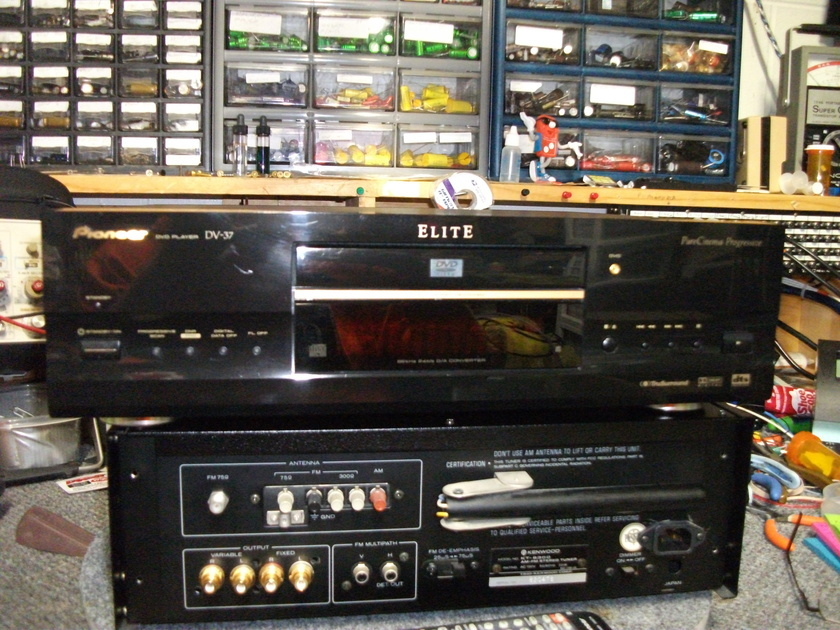 Pioneer Elite DV-37 Upgraded audio section and power supply  and the sound is wonderful!