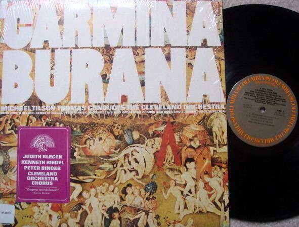 Columbia / TILSON THOMAS, - Carl Orff Carmina Burana, NM!