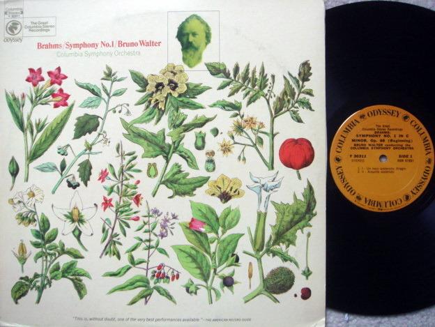 Columbia Odyssey / BRUNO WALTER,  - Brahms Symphony No.1, NM!