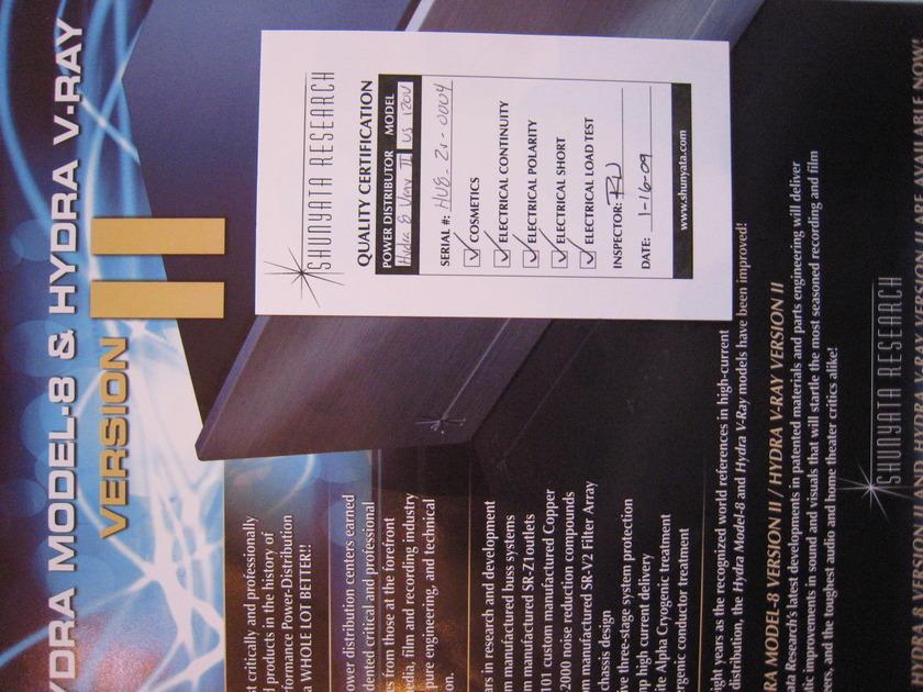 Shunyata V-Ray II & Python CX 20 Amp Cord $2,700