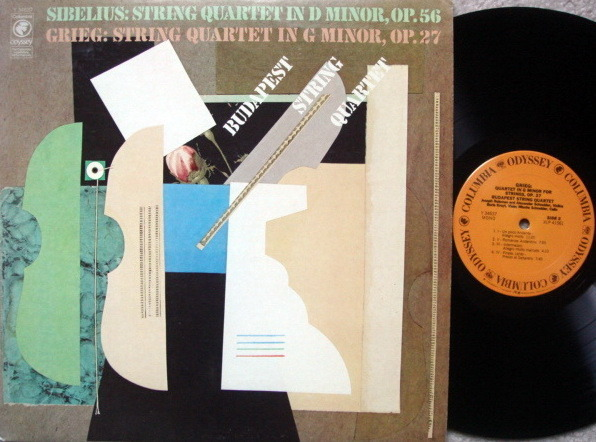 Columbia Odyssey / BUDAPEST QT, - Sibelius-Grieg String Quartets, NM!