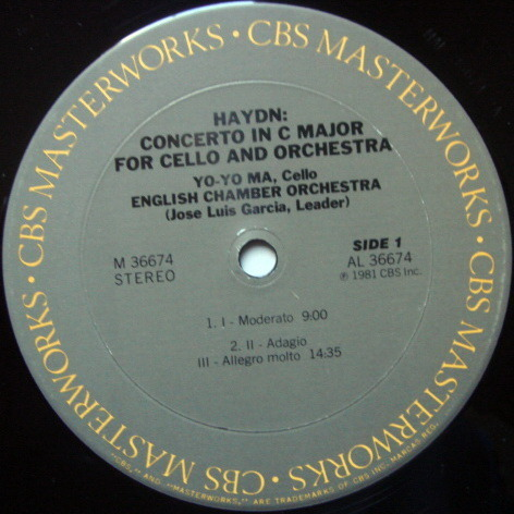CBS / YO-YO MA-GARCIA, - Haydn Cello Concertos No.1 & 2, NM!