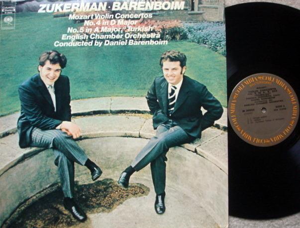 Columbia / ZUKERMAN-BARENBOIM, - Mozart Violin Concertos No.4 & 5, NM!