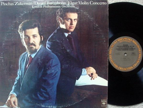 Columbia / ZUKERMAN-BARENBOIM, - Elgar Violin Concerto, NM!