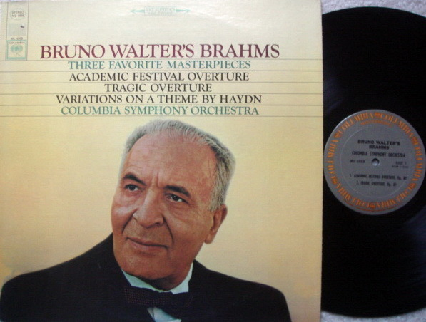 Columbia / BRONO WALTER, - Brahms Three Favorite Masterpieces, NM!