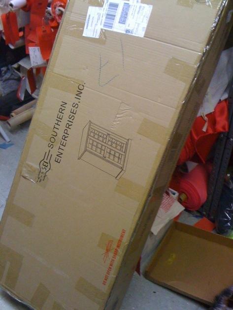 Southern Enterprises Sliding-Door Window black media rack Sealed NYC prefer local P/U.