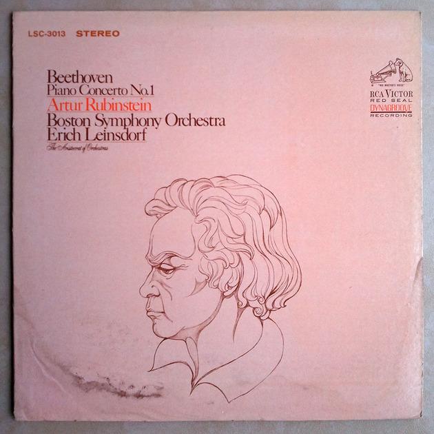 RCA White Dog   RUBINSTEIN/LEINSDORF/BEETHOVEN - Piano Concerto No. 1 / EX