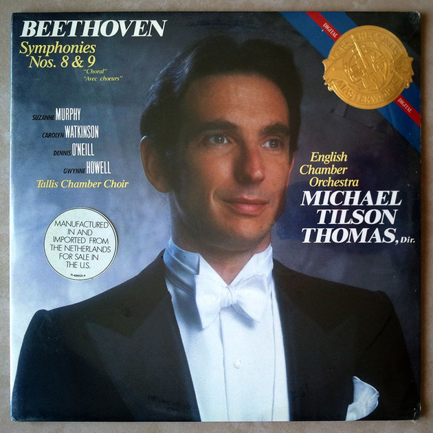 Sealed CBS | TILSON THOMAS/BEETHOVEN - Symphonies Nos. 8 & 9 / 2-LP / Imported Pressing