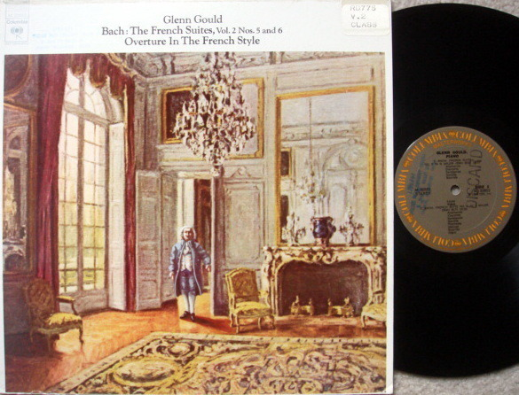 Columbia / GLENN GOULD, - Bach French Suites No.5 & 6, EX!