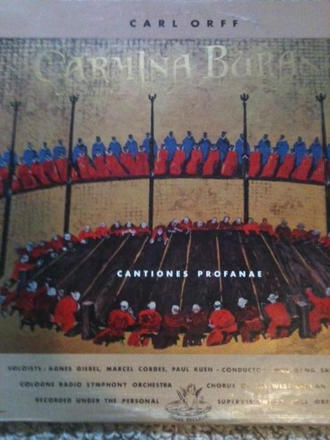 CARMINA BURANA Angel record - Carl Orff superb audiophile sound Angel record limited pressing