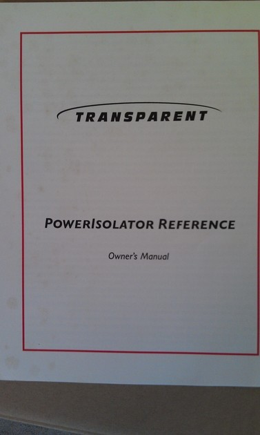 Transparent  Power Isolator Reference