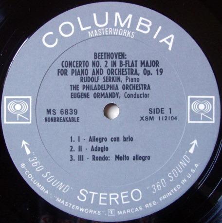Columbia 2-EYE / SERKIN-ORMANDY, - Beethoven-Mozart Piano Concertos NM-!