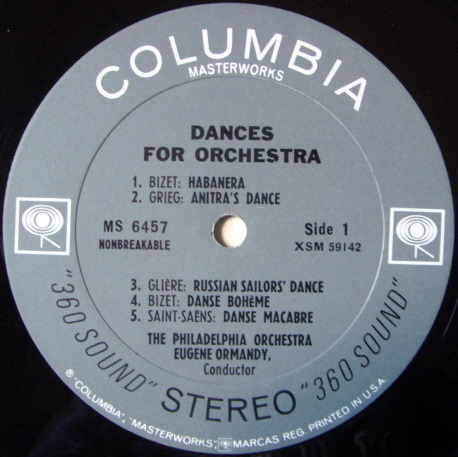 Columbia 2-EYE / ORMANDY, - Dances for Orchestra, VG+!